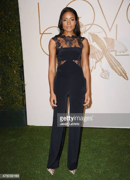 Actress Naomie Harris attends the LoveGold event at Chateau Marmont on February 26 2014 in Los Angeles California