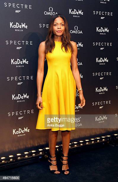 Actress Naomie Harris attends the OMEGA James Bond Exhibition opening at KaDeWe on October 28 2015 in Berlin Germany
