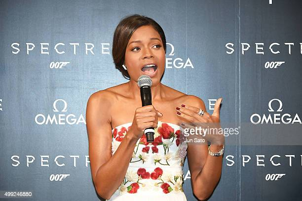 Actress Naomie Harris attends the photocall for the OMEGA Spectre on November 30 2015 in Tokyo Japan