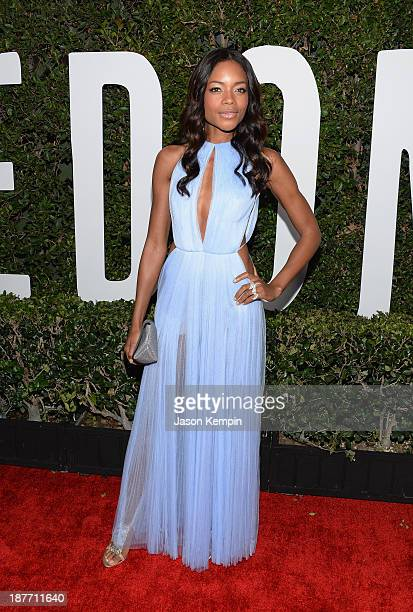 Actress Naomie Harris attends the premiere of The Weinstein Company's Mandela Long Walk To Freedom at ArcLight Cinemas on November 11 2013 in...