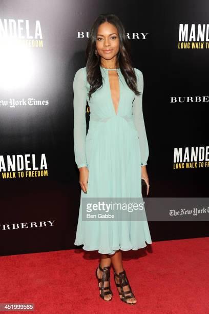 Actress Naomie Harris attends the screening of Mandela Long Walk to Freedom hosted by U2 Anna Wintour and Bob Harvey Weinstein with Burberry at the...