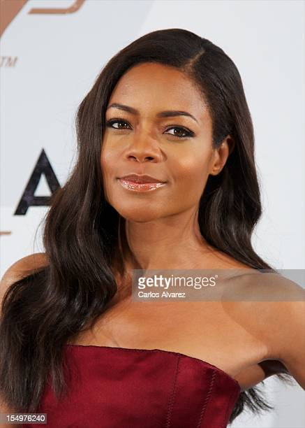 Actress Naomie Harris attends the 'Skyfall' photocall at the Villamagna Hotel on October 29 2012 in Madrid Spain