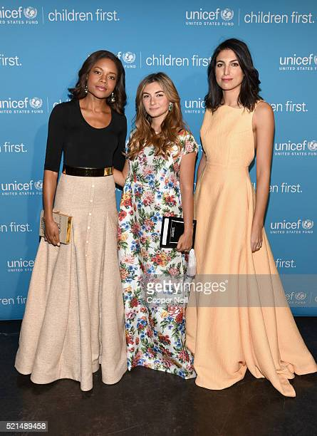 Actress Naomie Harris Nasiba Adilova and Federica Fanari at the Children First An Evening With UNICEF on April 15 2016 in Dallas Texas