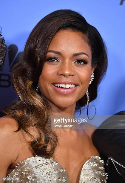 Actress Naomie Harris poses in the press room during the 74th Annual Golden Globe Awards at The Beverly Hilton Hotel on January 8 2017 in Beverly...