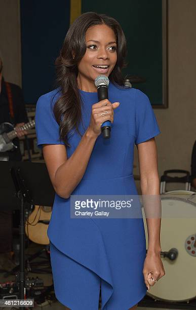 Actress Naomie Harris speaks at The Weinstein Company Hosts A Private Party With U2 In Support Of Their Original Song 'Ordinary Love' From 'MANDELA...