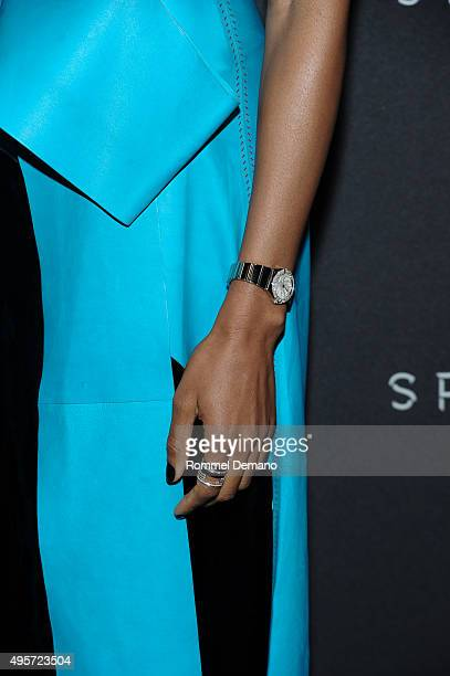 Actress Naomie Harris watch detail attends the Omega 'Spectre' screening on November 4 2015 in New York City