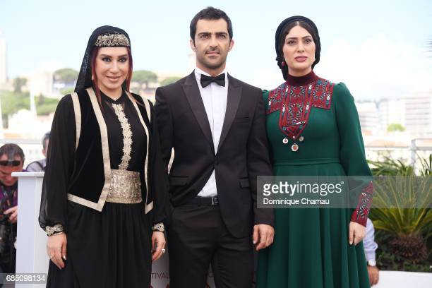 Actress Nasim Adabi Mohammad Akhlaghirad and Soudabeh Beizaee attend 'Lerd ' Photocall during the 70th annual Cannes Film Festival at Palais des...