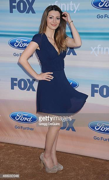 Actress Nasim Pedrad arrives at the 2014 FOX Fall Eco-Casino Party at The Bungalow on September 8, 2014 in Santa Monica, California.