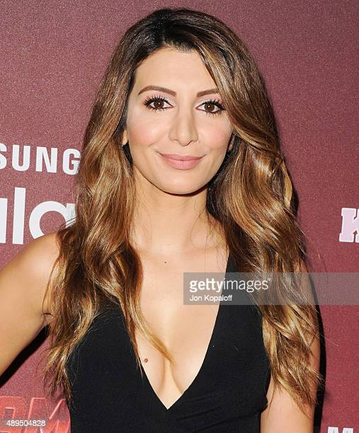 """Actress Nasim Pedrad arrives at the Premiere Of FOX TV's """"Scream Queens"""" at The Wilshire Ebell Theatre on September 21, 2015 in Los Angeles,..."""