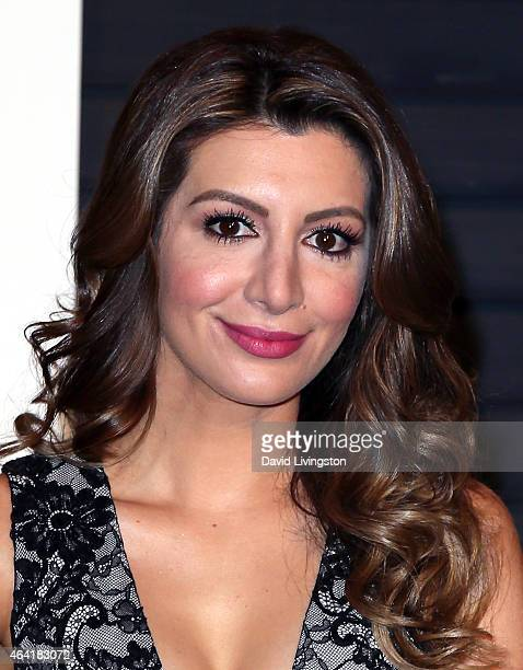 Actress Nasim Pedrad attends the 2015 Vanity Fair Oscar Party hosted by Graydon Carter at the Wallis Annenberg Center for the Performing Arts on...