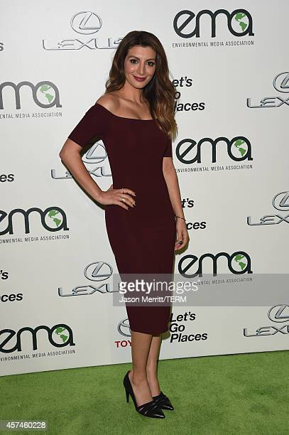 Actress Nasim Pedrad attends the 24th Annual Environmental Media Awards presented by Toyota and Lexus at Warner Bros Studio on October 18 2014 in...