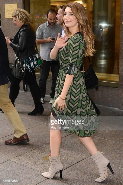 Actress Nasim Pedrad leaves the Sirius XM Studios on October 2, 2014 in New York City.