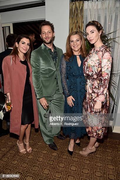 Actress Nasim Pedrad writer Derek Blasberg Vanity Fair West Coast editor Krista Smith and actress/comedian Whitney Cummings attend the Vanity Fair...