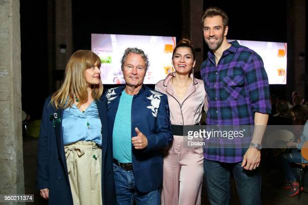 Actress Nastasya Kinski Jury member of the main competition actor John Savage actress Blanca Blanco and actor Oliver Morton attend the Best Web Time...