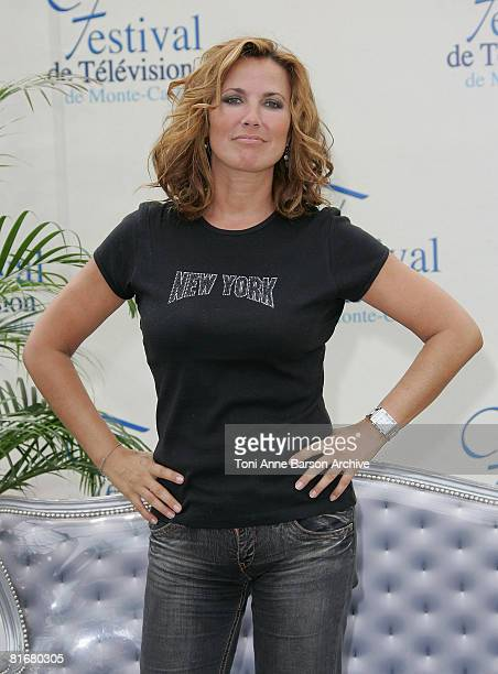 Actress Natacha Amal attends a photocall promoting the television series 'Femmes de Loi' on the fifth day of the 2008 Monte Carlo Television Festival...