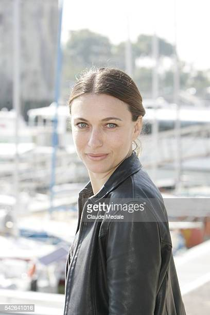 Actress Natacha Lindinger attends the photocall of Hard during the 10th annual Festival de la Fiction TV in La Rochelle