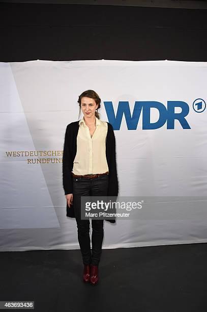 Actress Natalia Belitski attends the premiere of 'Vorsicht vor Leuten' at the Cinenova on February 17 2015 in Cologne Germany