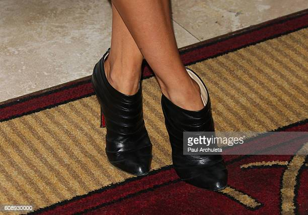 Actress Natalia CordovaBuckley Shoe Detail attends the premiere of ABC's Agents Of SHIELD Season 4 at Pacific Theatre at The Grove on September 19...