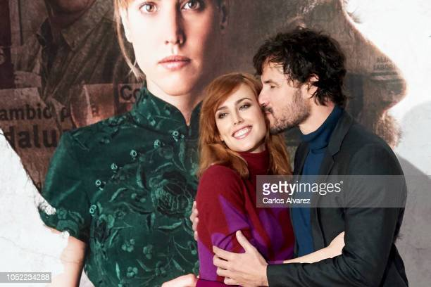 Actress Natalia de Molina and actor Daniel Grao attend 'Animales Sin Collar' photocall at Hotel Urso on October 16 2018 in Madrid Spain