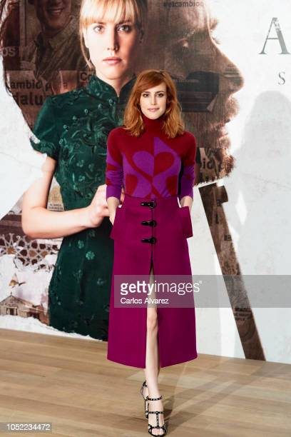 Actress Natalia de Molina attends 'Animales Sin Collar' photocall at Hotel Urso on October 16 2018 in Madrid Spain