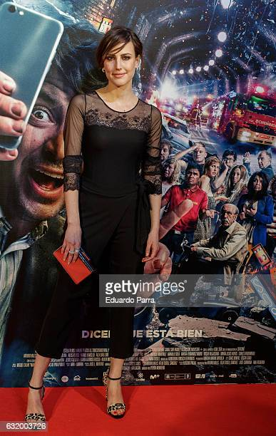 Actress Natalia de Molina attends 'Los del Tunel' premiere at Capitol cinema on January 18 2017 in Madrid Spain