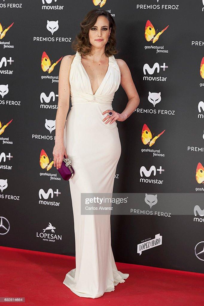 Actress Natalia de Molina attends the Feroz cinema awards 2016 at the Duques de Pastrana Palace on January 23, 2017 in Madrid, Spain.