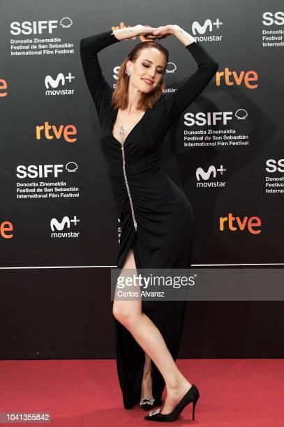 Actress Natalia de Molina attends the 'Quien Te Cantara' premiere during the 66th San Sebastian International Film Festival at the Kursaal Palace on...