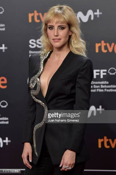 Actress Natalia de Molina attends the red carpet on the closure day of 67th San Sebastian International Film Festival on September 28, 2019 in San...