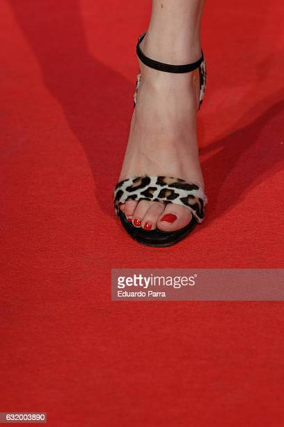 Actress Natalia de Molina shoe detail attends 'Los del Tunel' premiere at Capitol cinema on January 18 2017 in Madrid Spain