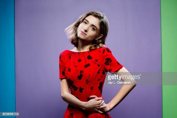 Actress Natalia Dyer from the television series 'Stranger Things' is photographed in the LA Times photo studio at ComicCon 2017 in San Diego CA on...