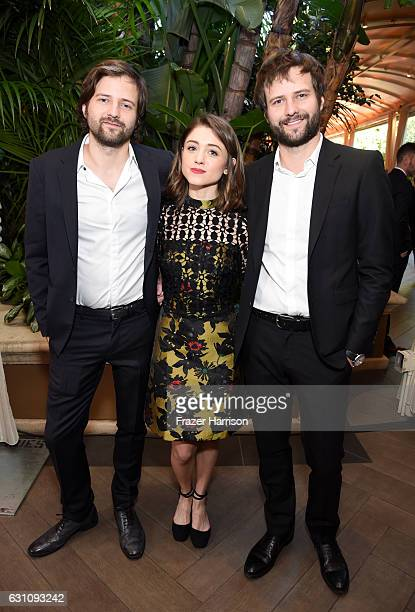 Actress Natalia Dyer with writer/directors Matt Duffer and Ross Duffer attend the 17th annual AFI Awards at Four Seasons Los Angeles at Beverly Hills...