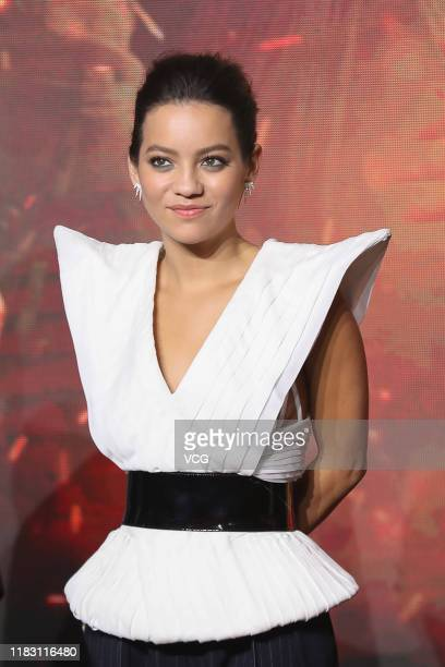 Actress Natalia Reyes attends 'Terminator Dark Fate' press conference on October 23 2019 in Beijing China