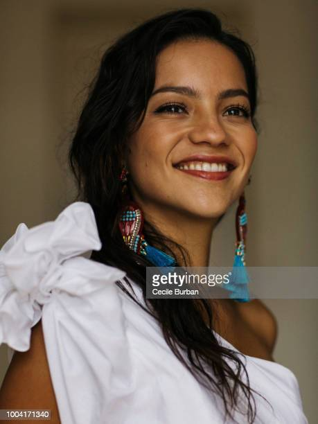 Actress Natalia Reyes is photographed for Self Assignment on May 2018 in Cannes France