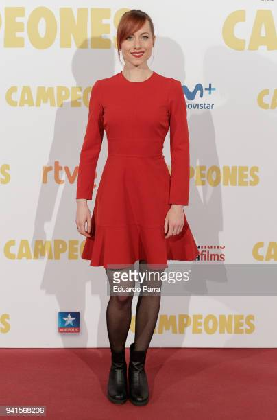 Actress Natalia Spengler attends the 'Campeones' premiere at Kinepolis cinema on April 3 2018 in Madrid Spain