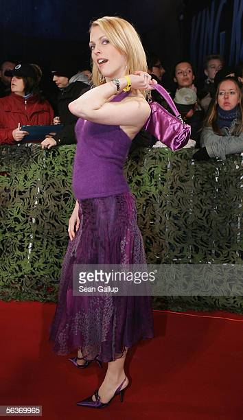 Actress Natalie Alison arrives at the German premiere of King Kong December 7 2005 in Berlin Germany