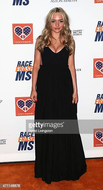Actress Natalie Alyn Lind attends the 22nd Annual Race to Erase MS event at the Hyatt Regency Century Plaza on April 24 2015 in Century City...