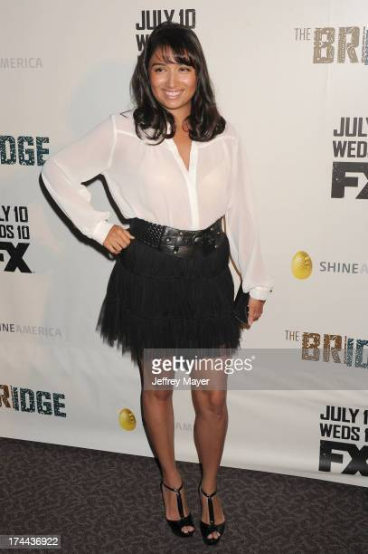 Actress Natalie Amenula arrives at the Series Premiere Of FX's 'The Bridge' at DGA Theater on July 8 2013 in Los Angeles California