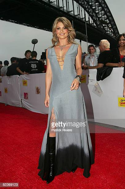 Actress Natalie Bassingthwaighte arrives at the inaugural MTV Australia Video Music Awards at Luna Park on March 3 2005 in Sydney Australia
