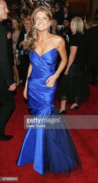 Actress Natalie Bassingthwaighte poses as she arrives for the 2006 TV Week Logie Awards at the Crown Entertainment Complex on May 7 2006 in Melbourne...
