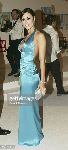 Actress Natalie Blair arrives at the 47th Annual TV Week Logie Awards at the Crown Entertainment Complex May 1 2005 in Melbourne Australia