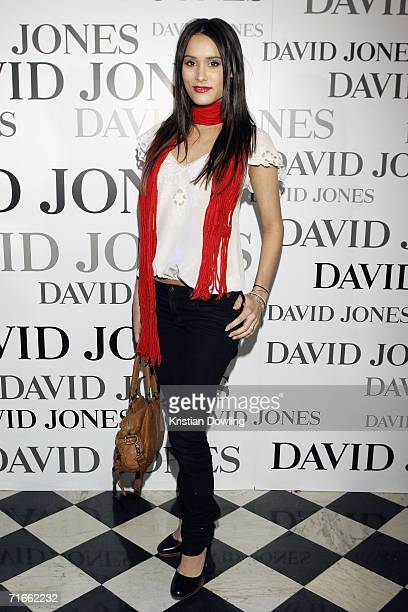 Actress Natalie Blair arrives at the David Jones Summer 2006 Collections Launch on August 17 2006 in Melbourne Australia David Jones Ambassador Megan...