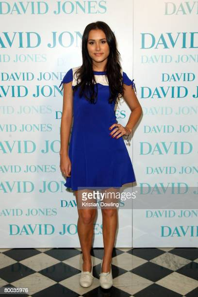Actress Natalie Blair arrives for the David Jones Winter 2008 Collection Launch 'A Japanese Story' at the Melbourne Town Hall on February 27 2008 in...