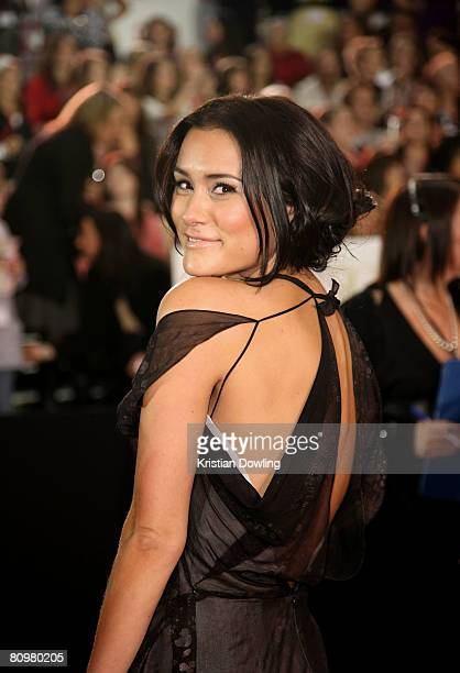 Actress Natalie Blair arrives on the red carpet at the 50th Annual TV Week Logie Awards at the Crown Towers Hotel and Casino on May 4 2008 in...