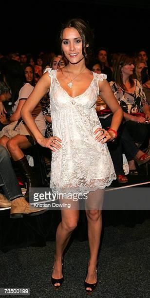 Actress Natalie Blair attends L'Oreal Paris Runway 3 as part of L'Oreal Melbourne Fashion Festival 2007 at the Fashion Cube Melbourne Museum Plaza on...