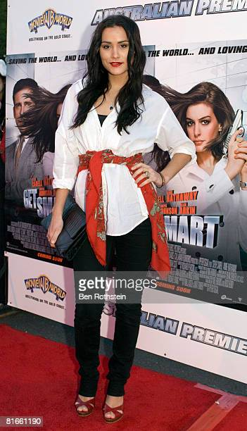 Actress Natalie Blair attends the Australian premiere of 'Get Smart' at Movie World on June 22 2008 in the Gold Coast Australia