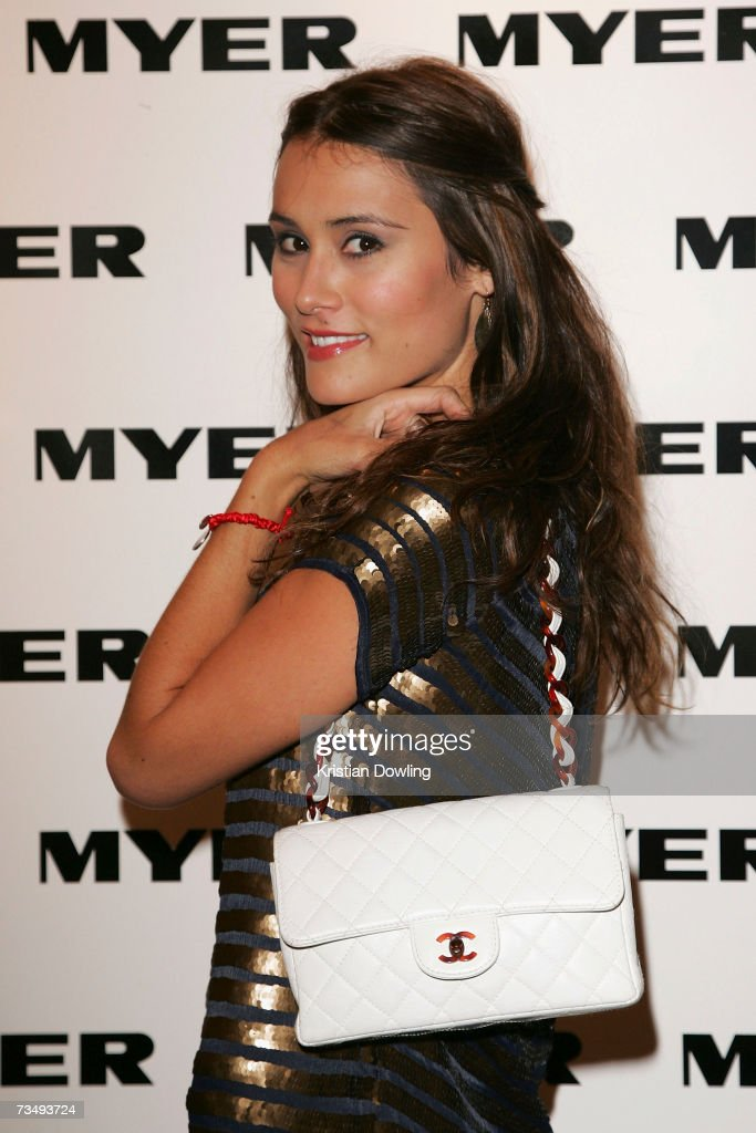 Actress Natalie Blair wearing an outfit by French Connection and bag ... 298700863