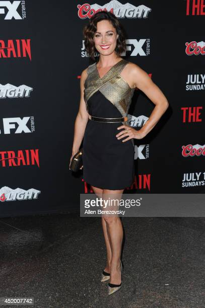 Actress Natalie Brown attends the Los Angeles Premiere of FX's new series 'The Strain' at DGA Theater on July 10 2014 in Los Angeles California