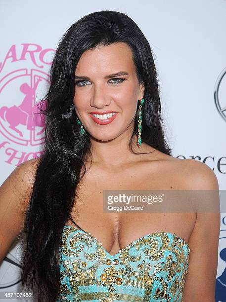 Actress Natalie Burn arrives at the 2014 Carousel Of Hope Ball Presented By MercedesBenz at The Beverly Hilton Hotel on October 11 2014 in Beverly...