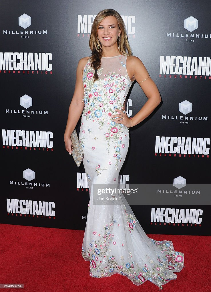 Actress Natalie Burn arrives at the Los Angeles Premiere 'Mechanic: Resurrection' at ArcLight Hollywood on August 22, 2016 in Hollywood, California.