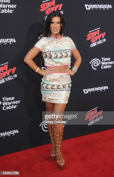 Actress Natalie Burn arrives at the Los Angeles premiere of Sin City A Dame To Kill For at TCL Chinese Theatre on August 19 2014 in Hollywood...
